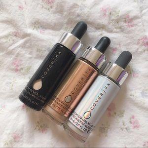 Cover FX makeup trio custom drops & cover drops